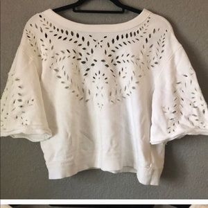 Free people crop style cut out sweatshirt size SM